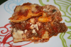 My Beef and Zucchini Lasagne