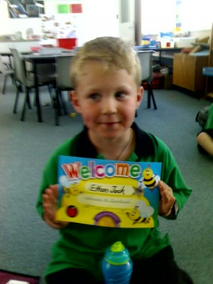Ethan's First School Certificate