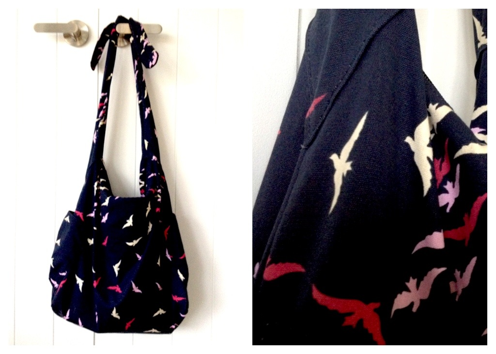 Canvas Navy Tote from K-Mart