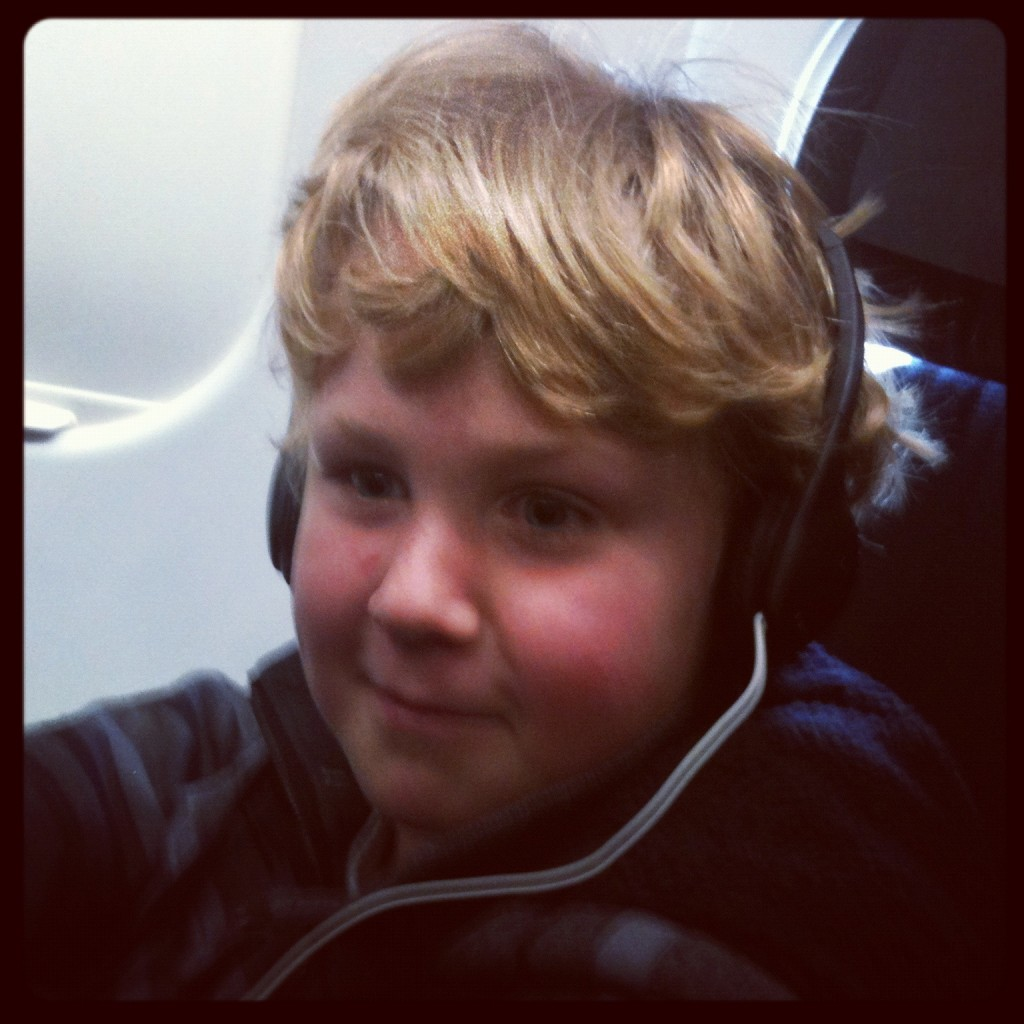 Ethan on a Plane!