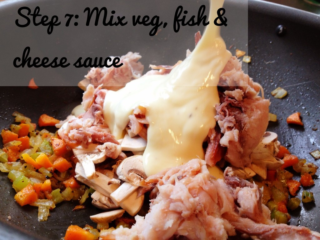 Smoked Fish Pie Recipe: Combine Ingredients