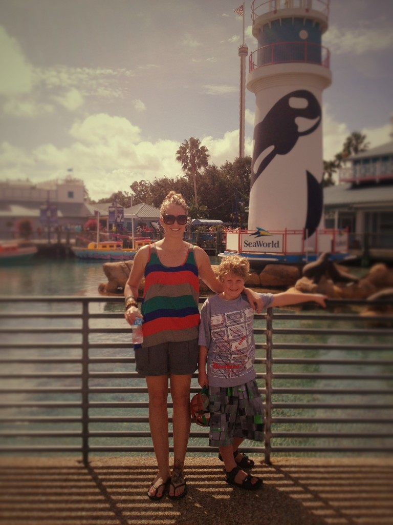 Mama and Ethan @ SeaWorld