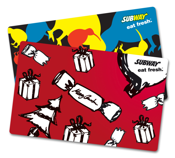 Subway Gift Card New Zealand
