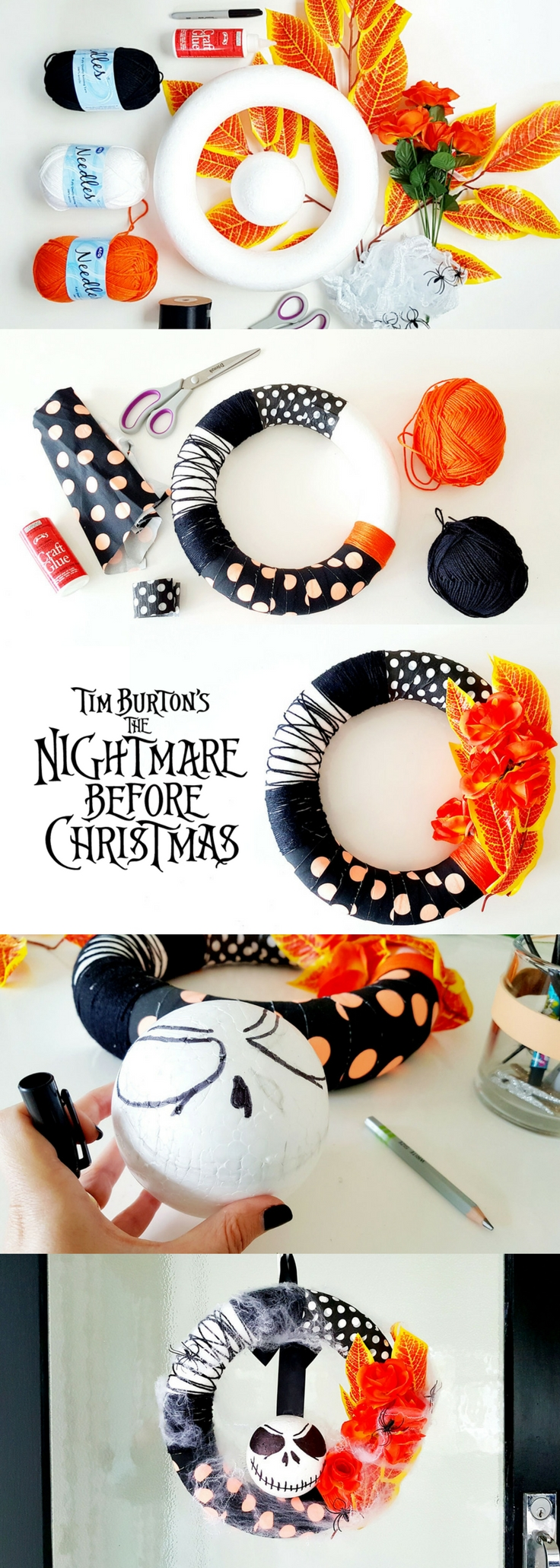 Nightmare before Christmas Halloween Wreath